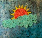 Sun und Wolke Stockbild