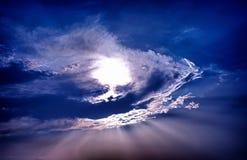 Sun und Wolken Stockfoto