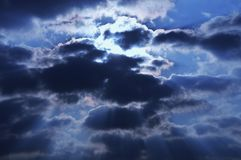 Sun und Wolken/Abstraktion der Natur Stockfoto
