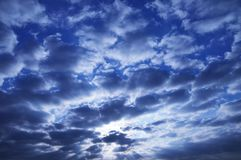 Sun und Wolken/Abstraktion der Natur Lizenzfreies Stockfoto