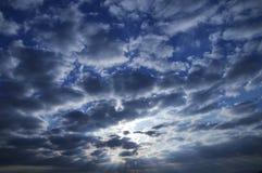 Sun und Wolken/Abstraktion der Natur Lizenzfreies Stockbild