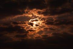 Sun und Wolken/Abstraktion der Natur Lizenzfreie Stockfotos