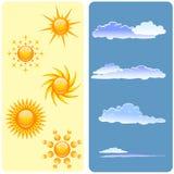 Sun und Wolken eingestellt