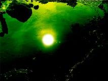 sun under vatten Royaltyfria Bilder