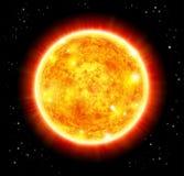 Sun in uno spazio Immagine Stock