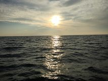 Sun unten Lizenzfreies Stockbild