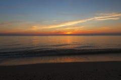Sun unten an Higbee-Strand Lizenzfreies Stockfoto