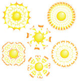 The sun in unusual beams Stock Image
