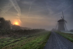 Sun-up with heavy fog Royalty Free Stock Images