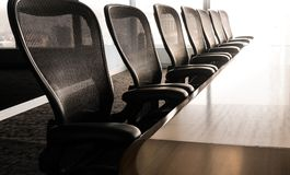 Sun up in the morning with business conference room. / For business grow concept stock image