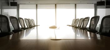 Sun up in the  morning  with business conference room Royalty Free Stock Images