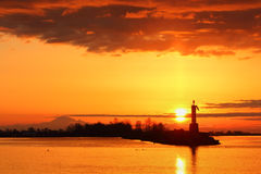 Sun Up, Steveston Harbor, British Columbia Stock Image
