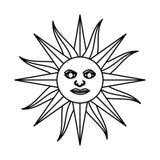 Sun uruguayan emblem flag Stock Photo
