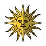 Sun uruguayan emblem flag Royalty Free Stock Photos