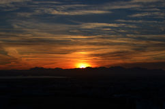 Sun va abajo Imágenes de archivo libres de regalías