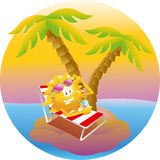 Sun on vacation island Stock Photography