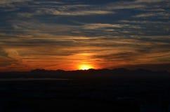 Sun vai para baixo Imagens de Stock Royalty Free