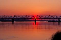 Sun vai para baixo Imagem de Stock Royalty Free