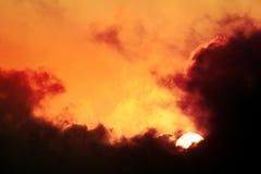 Sun vai para baixo Fotografia de Stock
