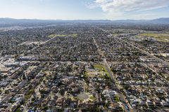 Sun Valley California Aerial Royalty Free Stock Image