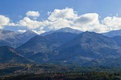 Sun Valley de Grécia Platô bonito de Lassithi na ilha da Creta, Grécia imagem de stock royalty free