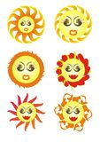 The sun (variants). Vector images Stock Photo