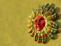 Sun variopinto con il percorso di residuo della potatura meccanica Fotografie Stock Libere da Diritti