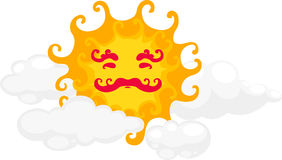 Sun vector. Cartoon sun  on white background vector Royalty Free Stock Images