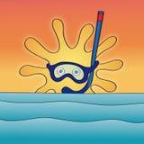 Sun (vector) Royalty Free Stock Photos