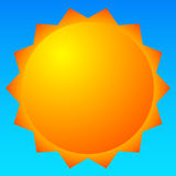 Sun vector clip-art. Sun illustration for weather, summer, vacation relataed themes. Royalty free vector illustration vector illustration