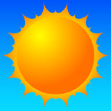 Sun vector clip-art. Sun illustration for weather, summer, vacation relataed themes. Royalty free vector illustration royalty free illustration