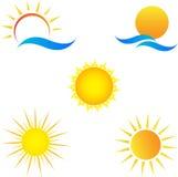 Sun. A vector drawing represents sun design vector illustration