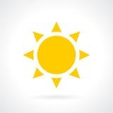 Sun vector icon Royalty Free Stock Photos