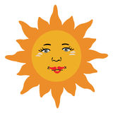 Sun Vector icon Royalty Free Stock Photos