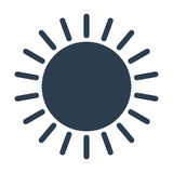Sun vector icon. On white background. Vector illustration Royalty Free Stock Images