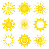 Sun vector icons Stock Photo