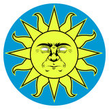 SUN. Vector illustratin of retro Sun Stock Images