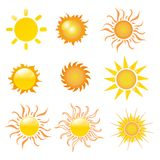 Sun vector illustration Royalty Free Stock Photography
