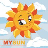 Sun. Vector illustration. Card with the image of the sun. Vector illustration Stock Photography