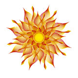 Sun vector illustration Royalty Free Stock Photos