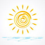 Sun vector Royalty Free Stock Photography