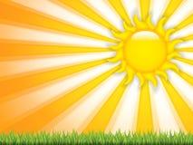 Sun vector illustration Stock Images