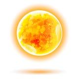 Sun vector isolated. Solar energy Royalty Free Stock Photography
