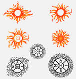 Sun Vector and Tattoo Logo Stock Photos