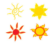 Sun vectors Stock Images
