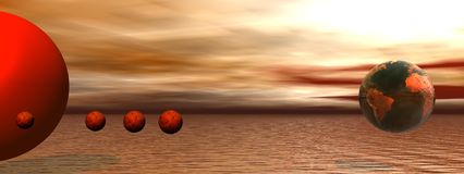 Sun and venus Stock Image