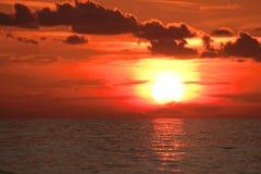 Sun vermelho Fotografia de Stock Royalty Free