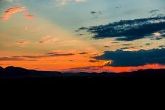 Sun vers le bas Image libre de droits