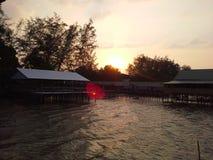 Sun vers le bas sur le cap Photo stock