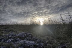 The Sun vient Images libres de droits